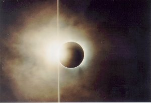 Total Solar Eclipse, August 11, 1999 - 2nd Contact - copyright Ernie Piini