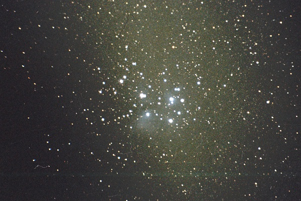 The Pleiades, M45 in Taurus. Photo Copyright by Ed Flaspoehler