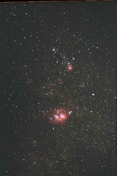 The Lagoon and Trifid Nebulae. Photo copyright by Ed Flaspoehler